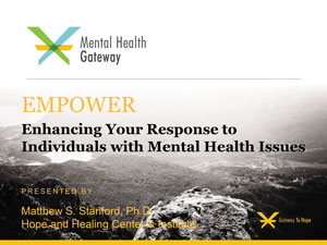 EMPOWER mental health online training cover page for video